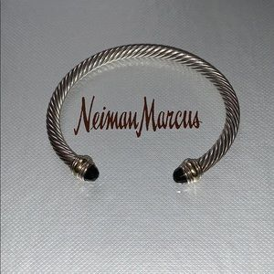 David Yurman Jewelry - David Yurman 5mm cuff, onyx 925 and 14k gold.